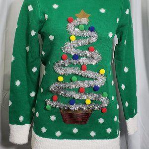 Adorable Tunic Length Ugly Christmas Sweater NWT